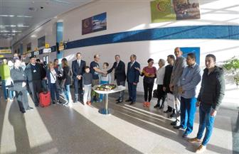 مطار مرسى علم يحتفل بقدوم الراكب رقم 12 مليون قادما من أوروبا | صور