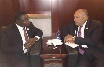 شكرى يلتقي وزير خارجية زامبيا على هامش اجتماعات الاتحاد الإفريقي