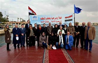 هيئة قناة السويس تستقبل وفدا من الجاليتين اليونانية والقبرصية بالقاهرة | صور