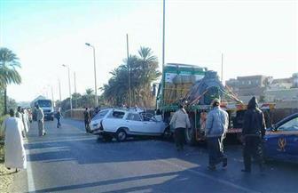 مصرع سائق في حادث تصادم بأسوان