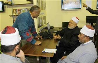 رؤساء إذاعات القرآن الكريم يتفقدون جناح الأزهر بمعرض الكتاب
