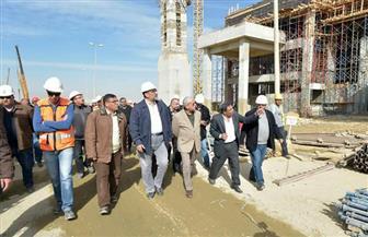 رئيس المقاولون العرب يتفقد مسجد الفتاح العليم ومجلس النواب بالعاصمة الإدارية الجديدة| صور