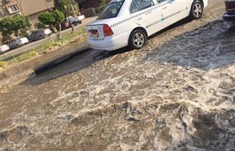 """كسر بماسورة مياه في """"صلاح سالم"""" يعيق حركة المرور"""
