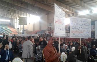 توافد العمال على مؤتمر تأييد الرئيس السيسي في الانتخابات | فيديو