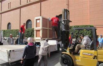 المتحف المصري الكبير يستقبل 5 لوحات أثرية تعود للأسرة السادسة | صور