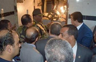 وزير التعليم العالي يتفقد موقع سقوط أسانسير مستشفى بنها الجامعي