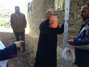 """حملة تطعيم لأهالي عزبة الإصلاح فى سمنود بالغربية ضد """"البلهارسيا""""   صور"""