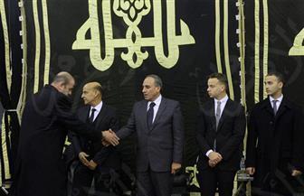عبدالمحسن سلامة وعمر نافع يتلقيان  واجب العزاء في وفاة الراحل إبراهيم نافع بمسجد عمر مكرم