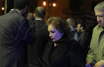 محلب وجيهان السادات يقدمان واجب العزاء في وفاة الراحل إبراهيم نافع