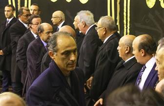 رشوان وحجازي وجمال مبارك في عزاء إبراهيم نافع