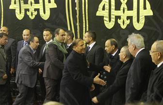 وزير الثقافة وسامي عنان يشاركان في عزاء إبراهيم نافع