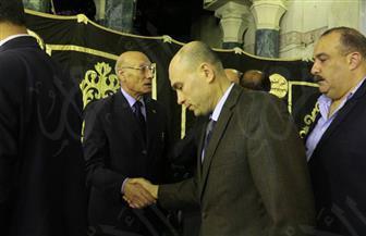 الدسوقي وحسين يؤديان واجب العزاء في الراحل إبراهيم نافع
