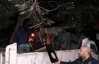 رفع 258 حالة إشغال وإزالة 16 حاجزا خرسانيا بالطريق العام في الغربية