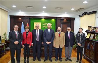 جامعة الإسكندرية تكرم عددًا من علمائها في الخارج في ختام احتفالات اليوبيل الماسي   صور