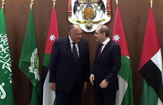 الصفدي يستقبل شكري قبيل اجتماع اللجنة السداسية حول القدس