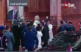 """الرئيس السيسي يصل كنيسة"""" ميلاد المسيح"""" لحضور احتفالات قداس عيد الميلاد"""