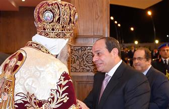 الرئيس السيسي يهنئ البابا تواضروس الثاني بعيد الميلاد