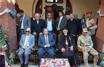 قيادات محافظة الإسماعيلية يقدمون التهنئة بعيد الميلاد بعدد من كنائس المحافظة