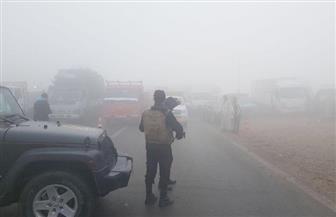 إغلاق طريق إدفو اتجاه مرسى علم بسبب الأمطار