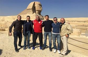 طاقم حكام مباراة الأهلي والزمالك يزور معالم القاهرة