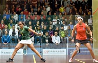 تأهل رباعي سيدات فراعنة الأسكواش لربع نهائي بطولة السعودية الدولية