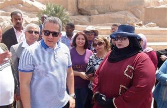 وزيرا السياحة والآثار يلتقيان بالعاملين بمنطقة المسلة الناقصة بأسوان| صور