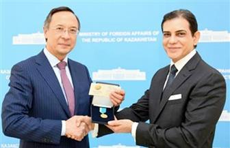 كازاخستان تكرم السفير هيثم صلاح لجهوده فى تعزيز العلاقات الثنائية | صور