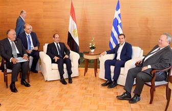 بدء مباحثات الرئيس السيسي ورئيس الوزراء اليوناني في جزيرة كريت