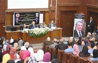رئيس جامعة القاهرة يشهد حفل تأبين عميد كلية الآداب الأسبق  صور