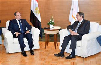 تفاصيل لقاء الرئيس السيسي بنظيره القبرصي