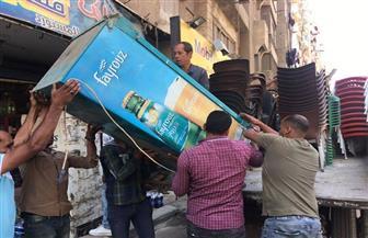 حملة إشغالات موسعة بشارع فيصل وكعبيش  صور