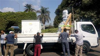 المتحف الكبير يستقبل تمثالين لرمسيس الثاني وحورس من حديقة المسلة بالجزيرة | صور