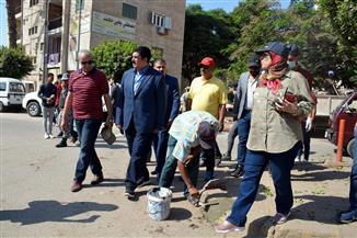 محافظ القليوبية يشارك الشباب أعمال النظافة والتجميل بمدينة بنها |صور