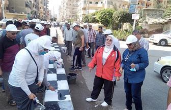 حملة نظافة بمشاركة قيادات تعليمية وطلاب بكفر الشيخ | صور