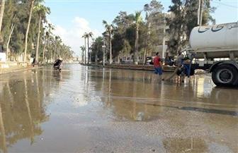 الدقهلية تستدعي معدات الأحياء لسحب مياه الأمطار في جمصة| صور