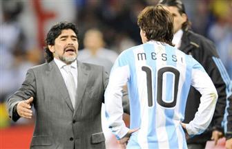 """""""مارادونا"""" مهاجما """"ميسي"""": إنه ليس """"قائدا"""" للأرجنتين ولا يجب اعتباره الأبرز في العالم"""
