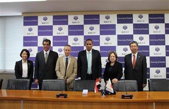 رئيس جامعة أسوان يزور جامعة تسكوبا اليابانية لبحث سبل التعاون العلمي المشترك | صورة
