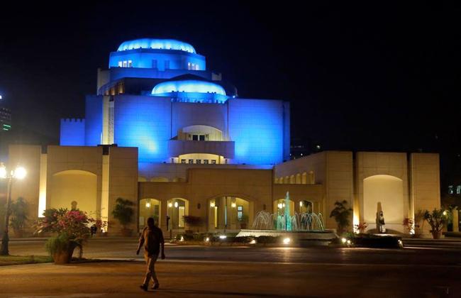 رئيس الأوبرا يفتتح المعرض السنوى لمركز تنمية المواهب  صور