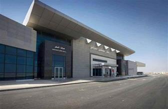 هبوط أول رحلة تجريبية لمصر للطيران في مطار سفنكس الدولي