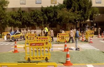 تنفيذ المدينة المرورية بمدرسة الشهداء الابتدائية بالأقصر | صور