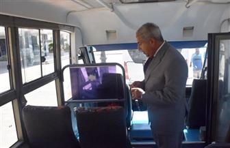 محافظ أسوان يدشن 7 أتوبيسات ميني باص ضمن مشروع النقل الداخلي