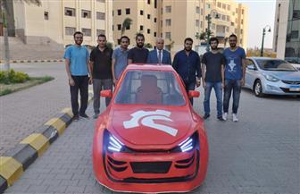 جامعة كفر الشيخ تحصد المركز الأول في تصميم سيارة كهربائية برالي السيارات | صور