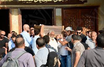 تشييع جنازة الفنان أحمد عبد الوارث من مسجد السيدة نفيسة | صور