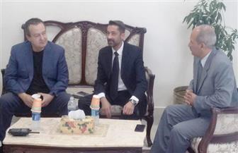 سكرتير محافظة أسوان يستقبل وزير خارجية دولة صربيا