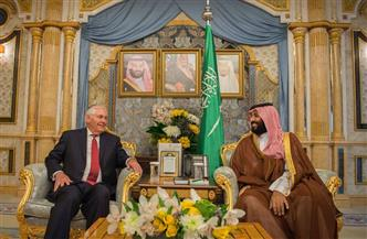 """""""العربية"""": ولي العهد السعودي يستقبل وزير الخارجية الأمريكي"""