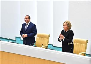 الرئيس السيسي أمام المجلس الفيدرالي الروسي: لا مجال للحلول الجزئية للنزاعات والصراعات الداخلية