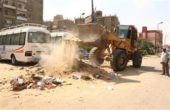 محافظ الجيزة: رفع 2500 طن مخلفات من امتداد شارع اللبيني