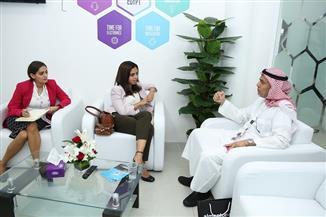 لقاءات متنوعة للبعثة التجارية المصرية على هامش معرض جيتكس دبي 2018 | صور