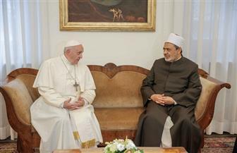 تفاصيل لقاء الإمام الأكبر وبابا الفاتيكان |صور
