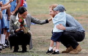 الأمير هاري وزوجته ميجان يزوران بلدة أسترالية تكافح الجفاف
